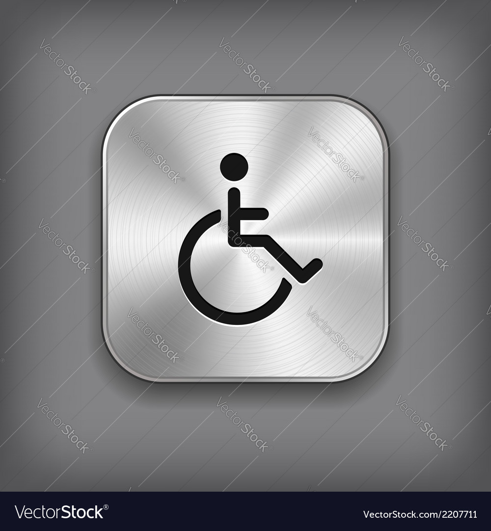 Disabled icon - metal app button vector | Price: 1 Credit (USD $1)