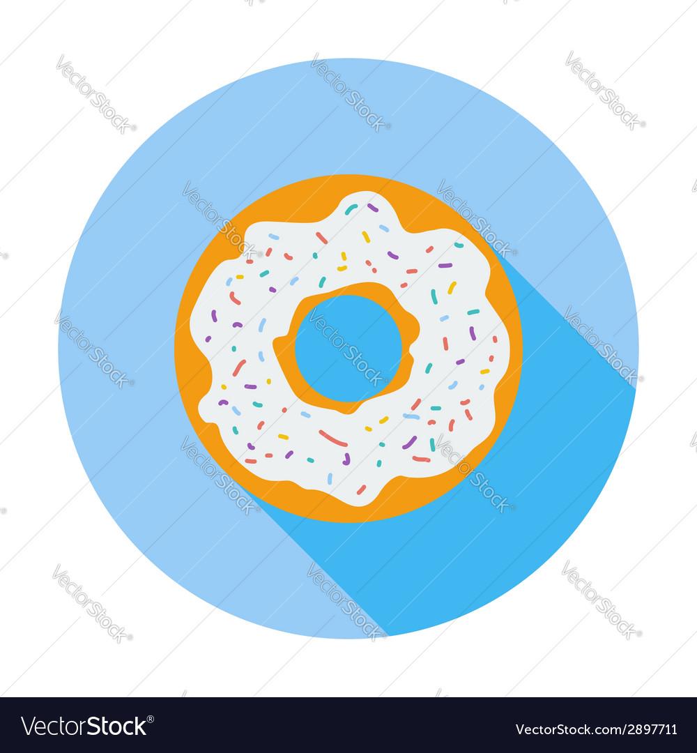Donut flat icon vector | Price: 1 Credit (USD $1)