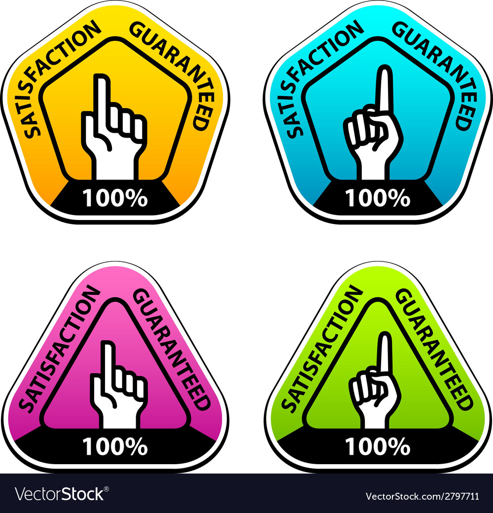 Forefinger indicating the satisfaction guaranteed vector | Price: 1 Credit (USD $1)