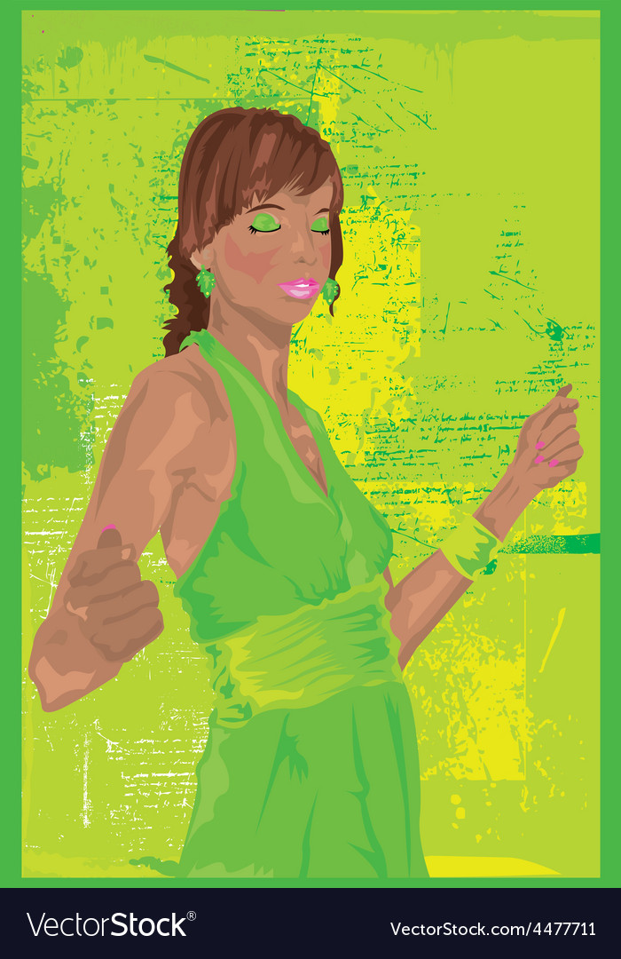 Girl at party vector | Price: 1 Credit (USD $1)