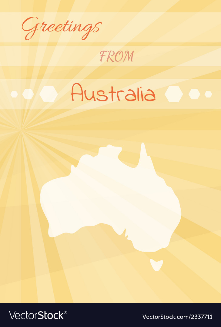 Greetings from australia vector | Price: 1 Credit (USD $1)