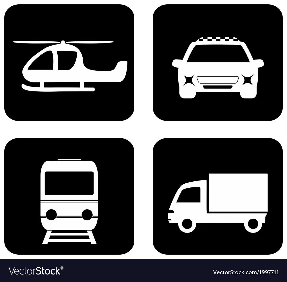 Isolated transport icons vector | Price: 1 Credit (USD $1)