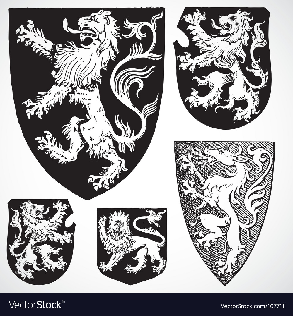Medieval shield ornaments vector | Price: 1 Credit (USD $1)