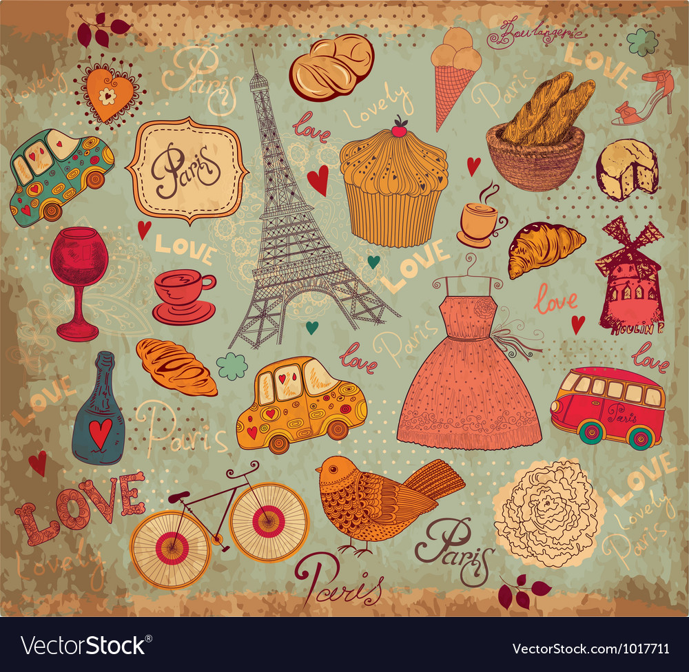 Parisian background vector | Price: 1 Credit (USD $1)
