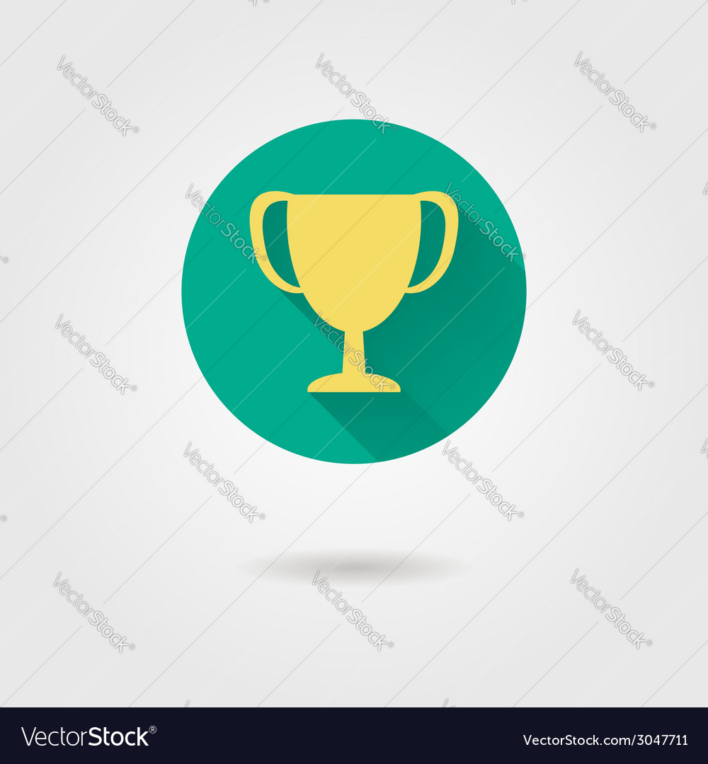 Prize cup flat icon vector | Price: 1 Credit (USD $1)