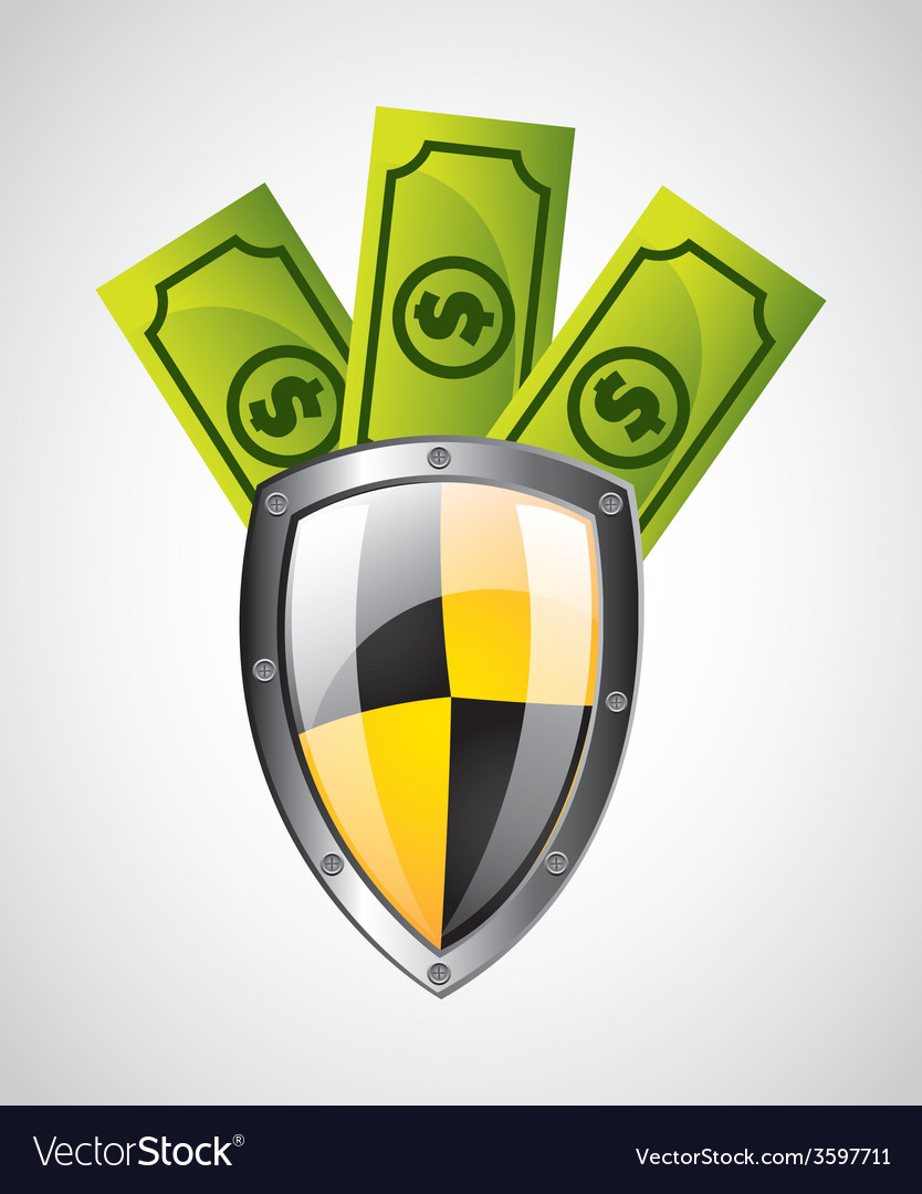 Security money vector | Price: 1 Credit (USD $1)