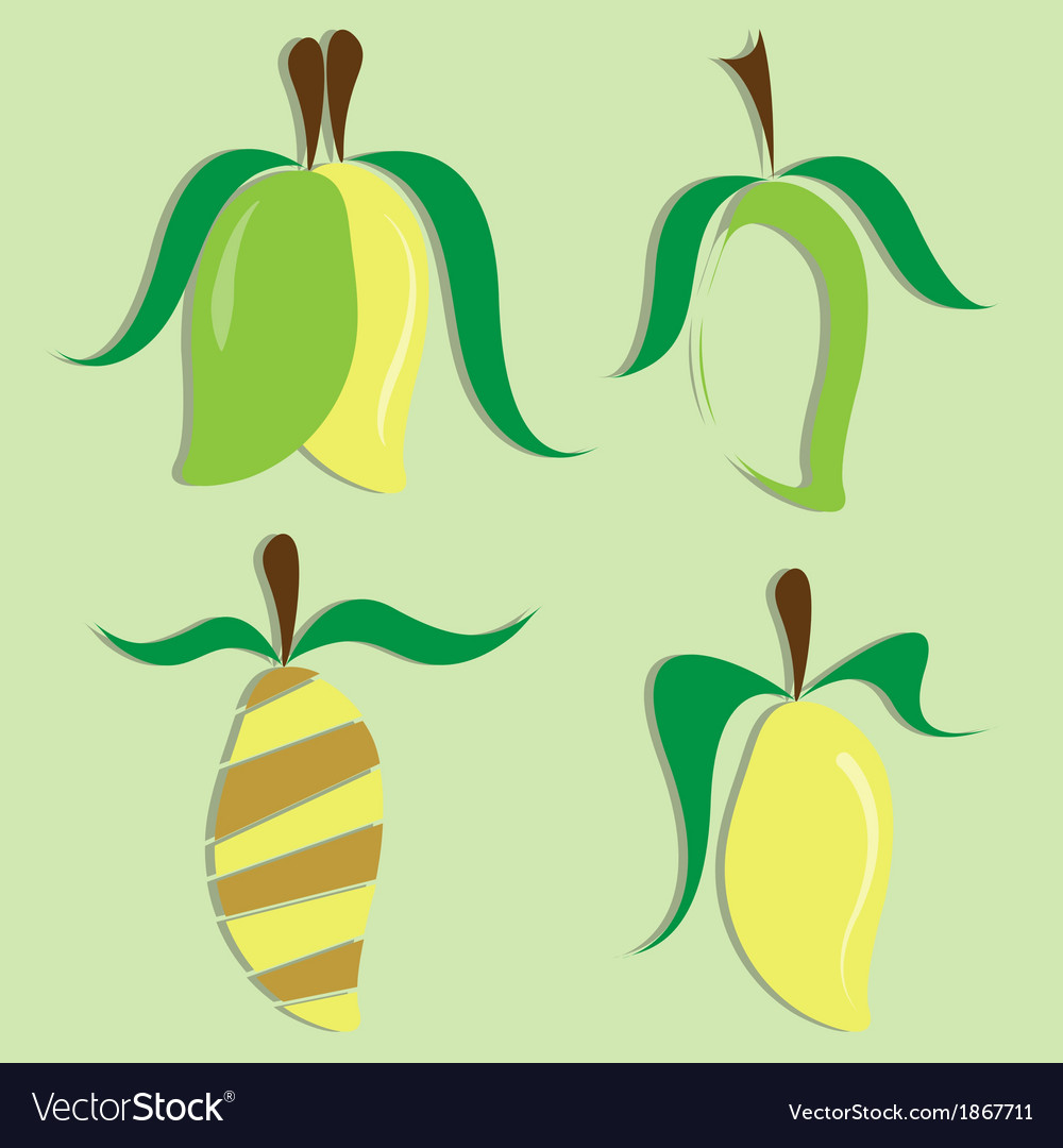 Set of mango icon vector | Price: 1 Credit (USD $1)