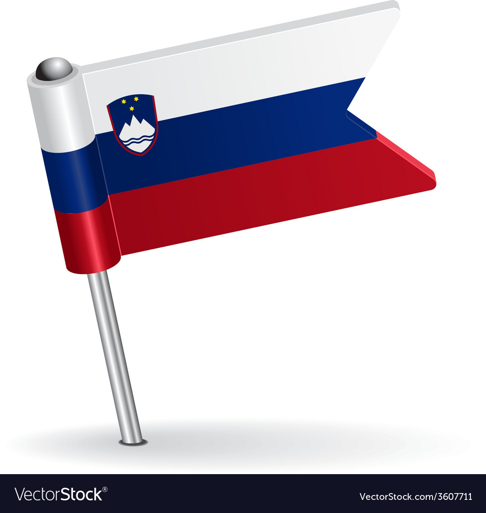 Slovenian pin icon flag vector | Price: 1 Credit (USD $1)