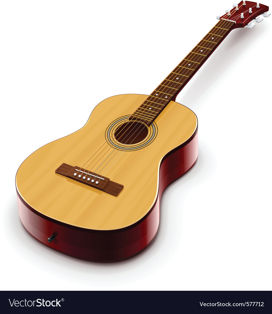 Acoustic classic guitar vector | Price: 3 Credit (USD $3)