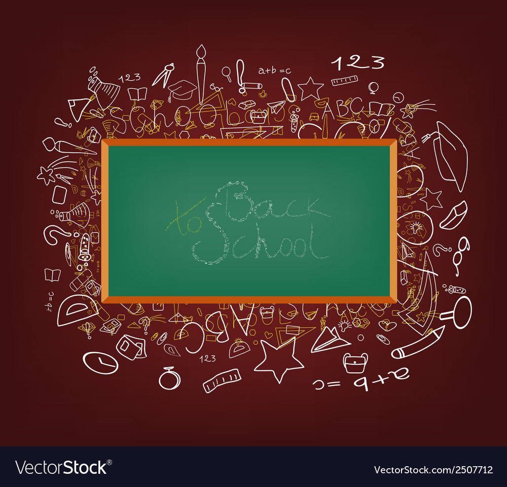 Background with education icons vector | Price: 1 Credit (USD $1)