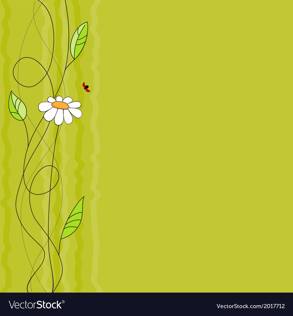 Floral background with ladybird vector | Price: 1 Credit (USD $1)