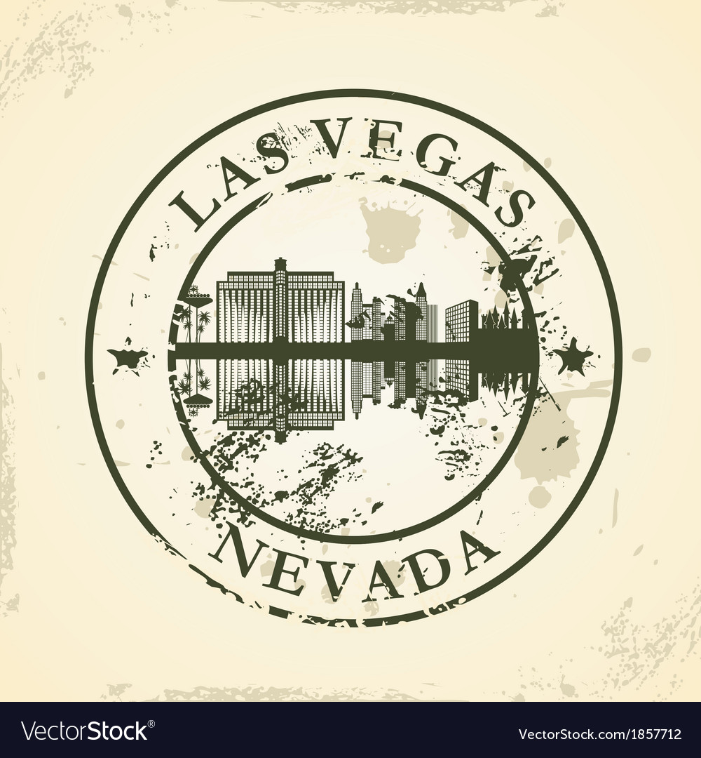 Grunge rubber stamp with las vegas nevada vector | Price: 1 Credit (USD $1)