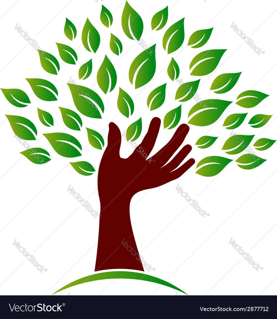 Hand on ecology awareness image vector | Price: 1 Credit (USD $1)