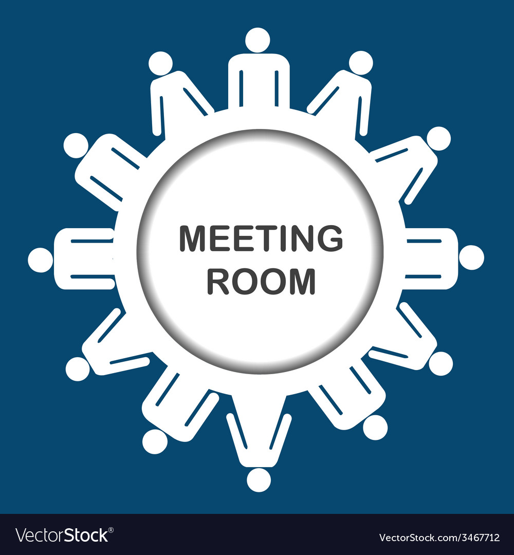 Meeting room icon vector | Price: 1 Credit (USD $1)