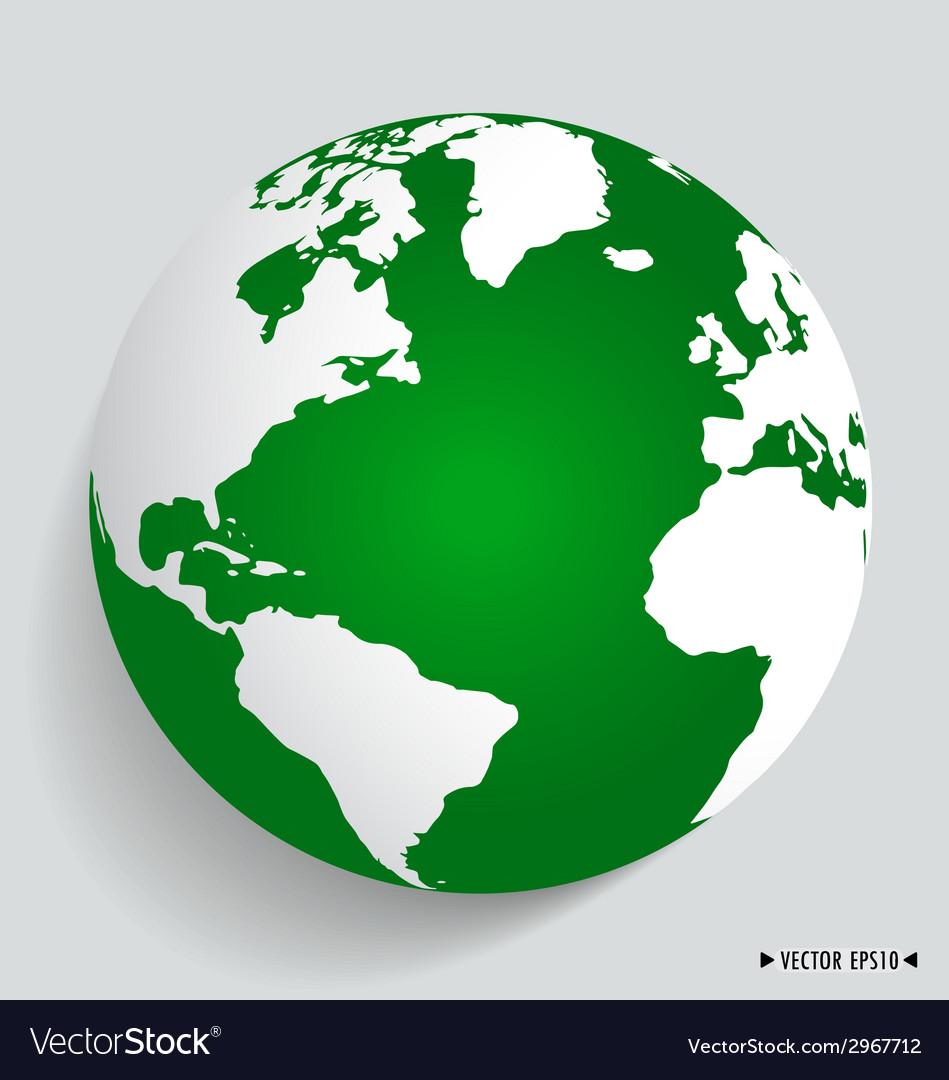 Modern green globe vector | Price: 1 Credit (USD $1)