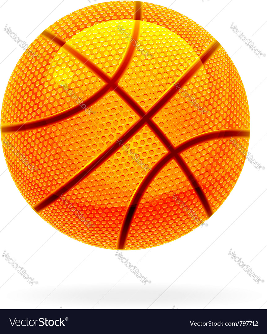 Orange basket ball vector | Price: 1 Credit (USD $1)