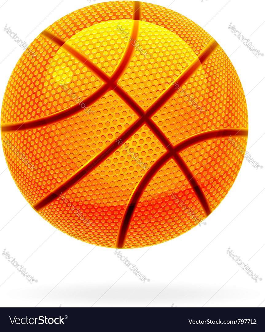 Orange basket ball vector | Price: 1 Credit (USD $1)