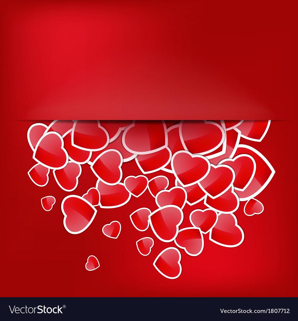 Paper sticker valentines day eps 10 vector   Price: 1 Credit (USD $1)