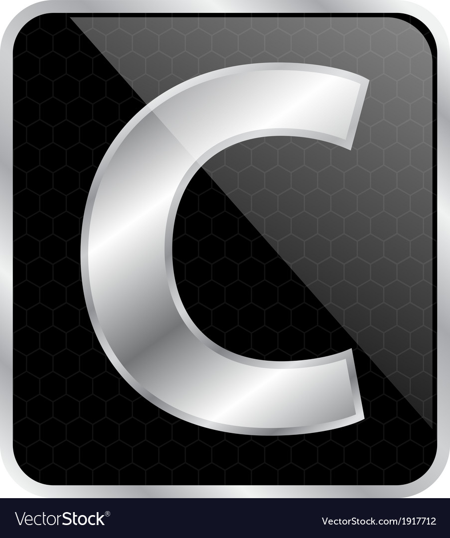 Silver typographic c vector | Price: 1 Credit (USD $1)