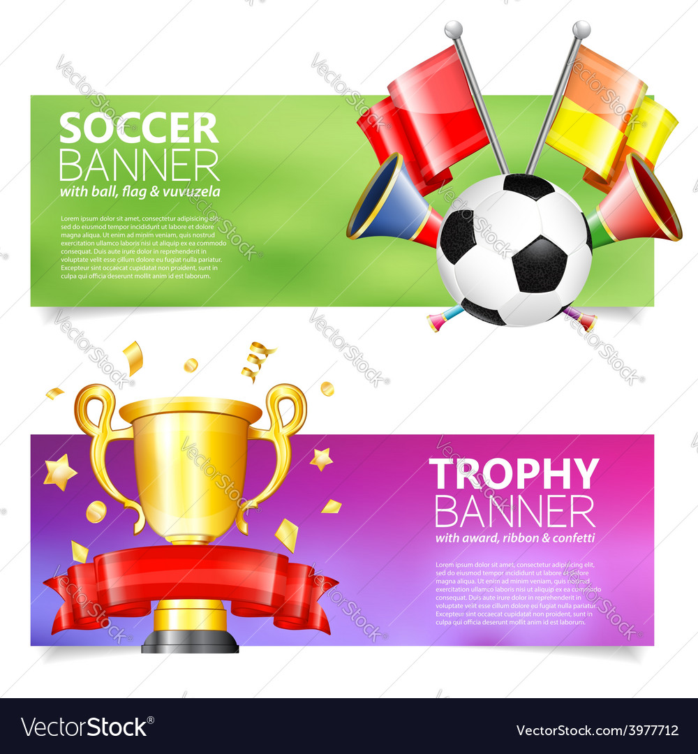 Soccer banners vector | Price: 1 Credit (USD $1)