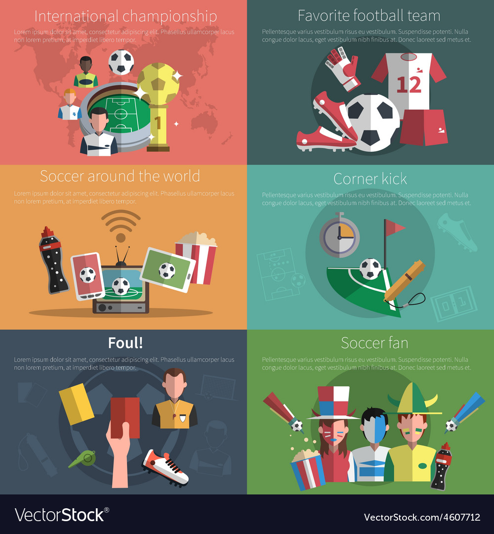 Soccer mini poster set vector | Price: 1 Credit (USD $1)