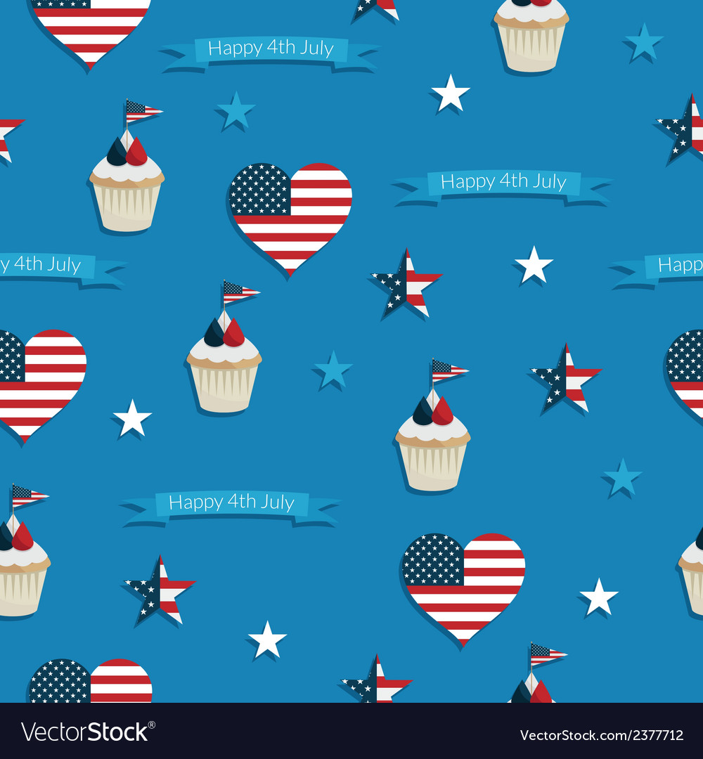 Usa seamless pattern vector | Price: 1 Credit (USD $1)
