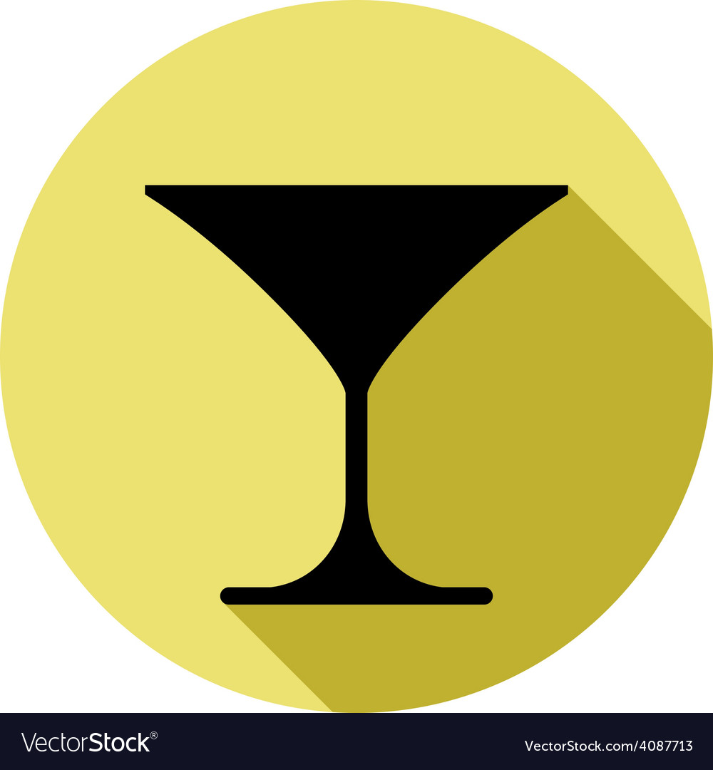 Classic martini glass alcohol and entertainment vector | Price: 1 Credit (USD $1)