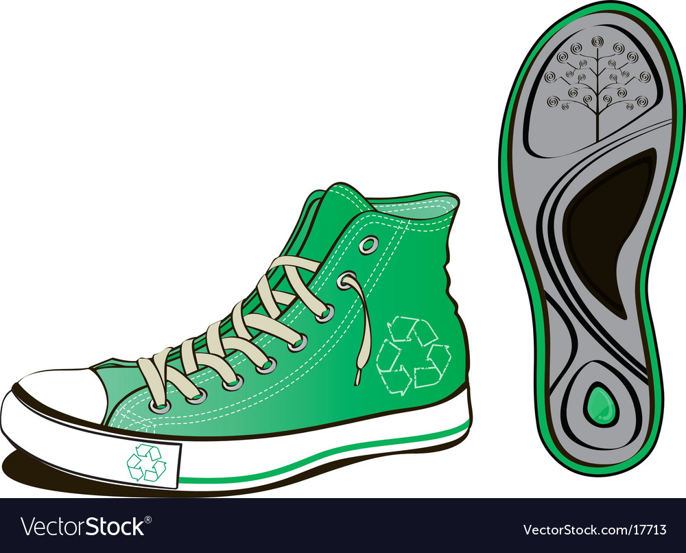 Ecology shoe vector | Price: 3 Credit (USD $3)