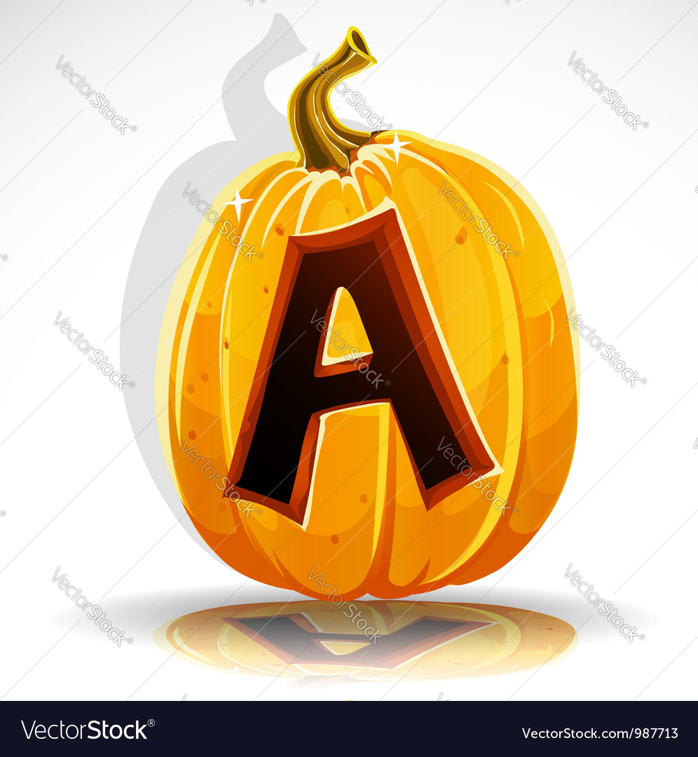 Halloween pumpkin a vector | Price: 1 Credit (USD $1)