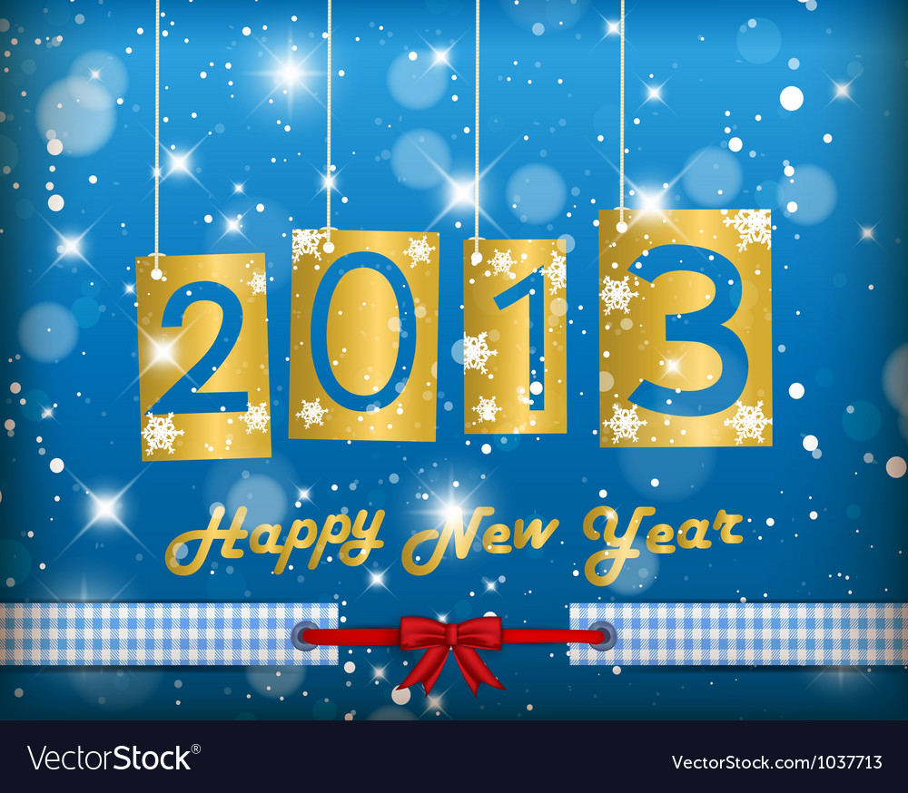 Happy new year 2013 vector | Price: 1 Credit (USD $1)