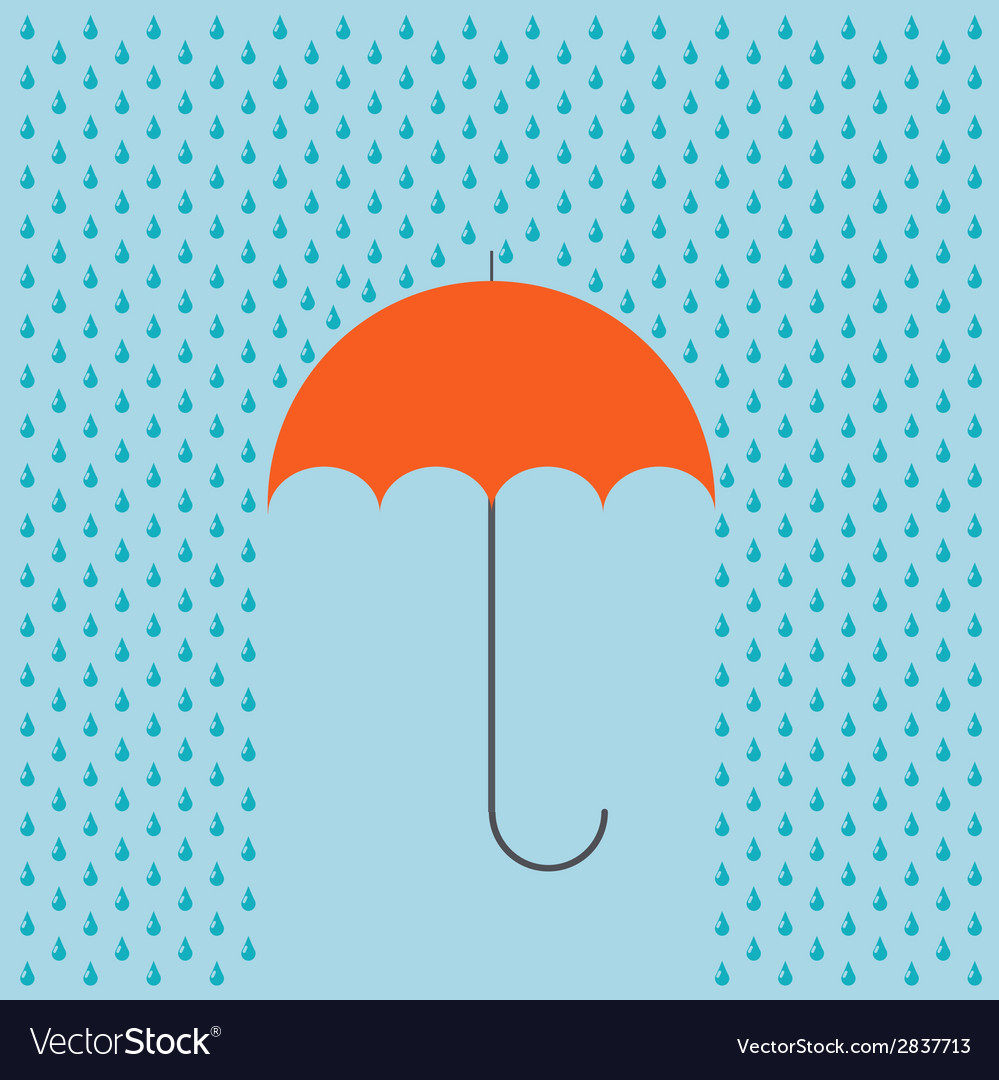 Modern umbrella with rain background vector | Price: 1 Credit (USD $1)