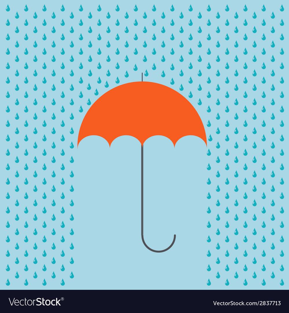 Modern umbrella with rain background vector