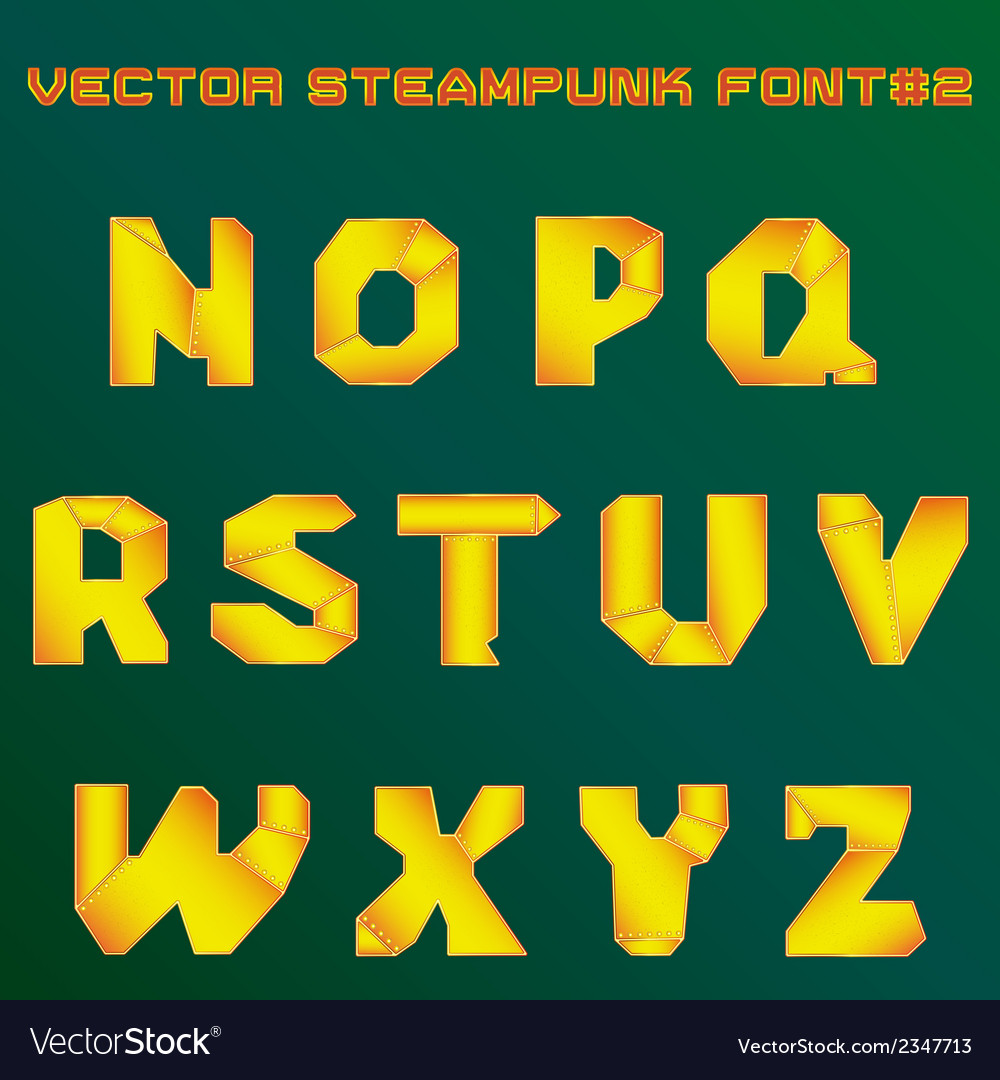 Steampunk alphabet for design vector | Price: 1 Credit (USD $1)
