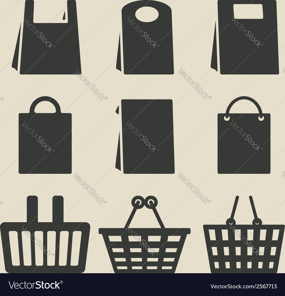 Store bag set vector | Price: 1 Credit (USD $1)