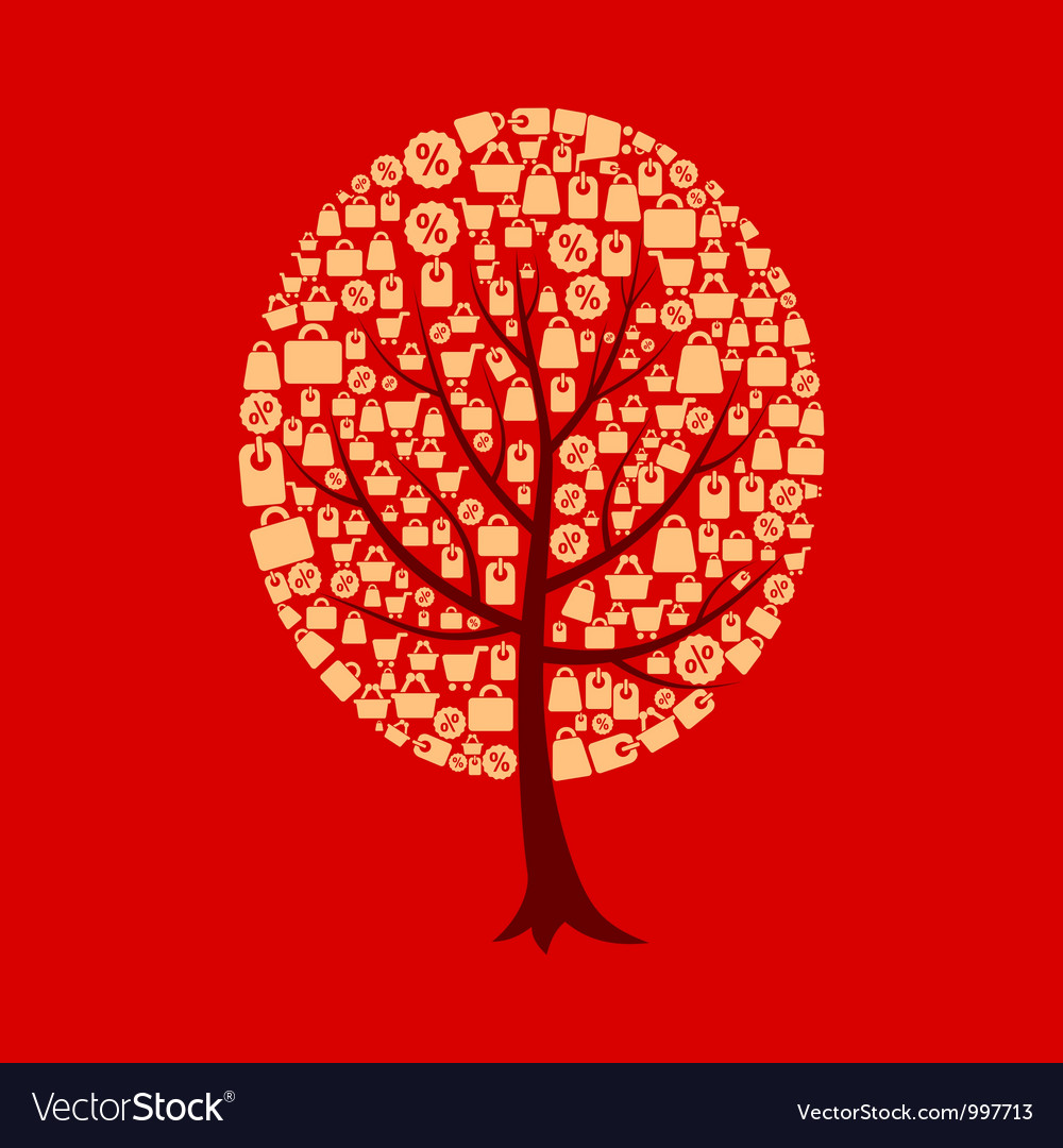Tree sale vector | Price: 1 Credit (USD $1)
