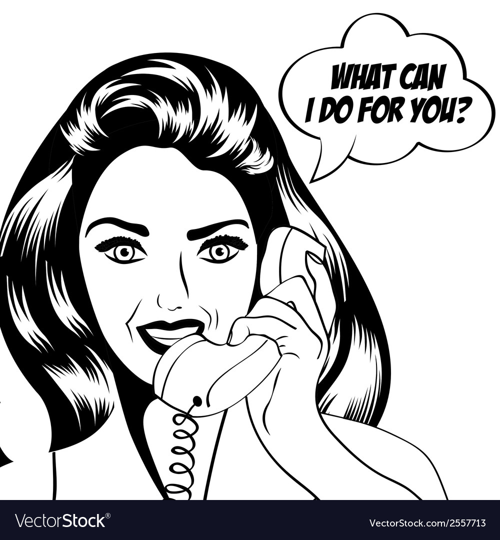 Woman chatting on the phone pop art vector | Price: 1 Credit (USD $1)
