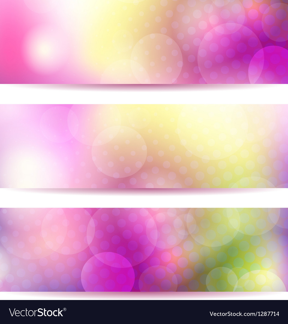 Abstract pink banner set vector | Price: 3 Credit (USD $3)