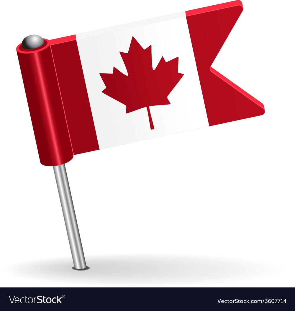 Canadian pin icon flag vector | Price: 1 Credit (USD $1)