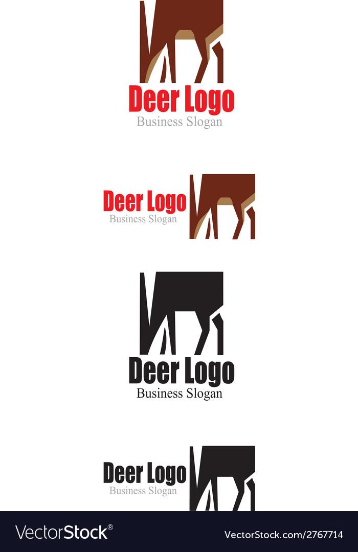 Deer logo vector | Price: 1 Credit (USD $1)