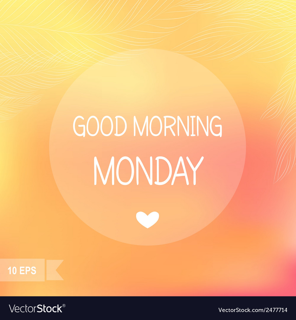 Monday vector | Price: 1 Credit (USD $1)