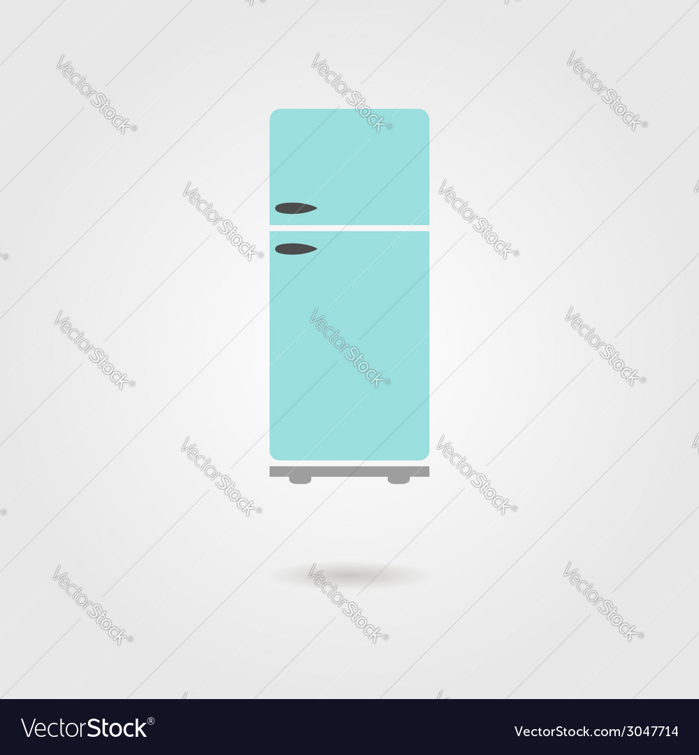 Refrigerator icon with shadow vector | Price: 1 Credit (USD $1)