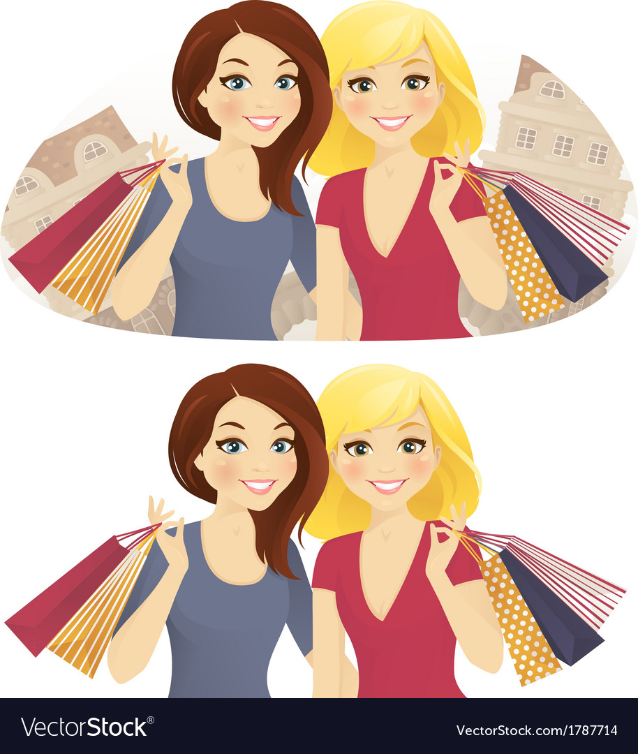 Shopping together vector | Price: 3 Credit (USD $3)