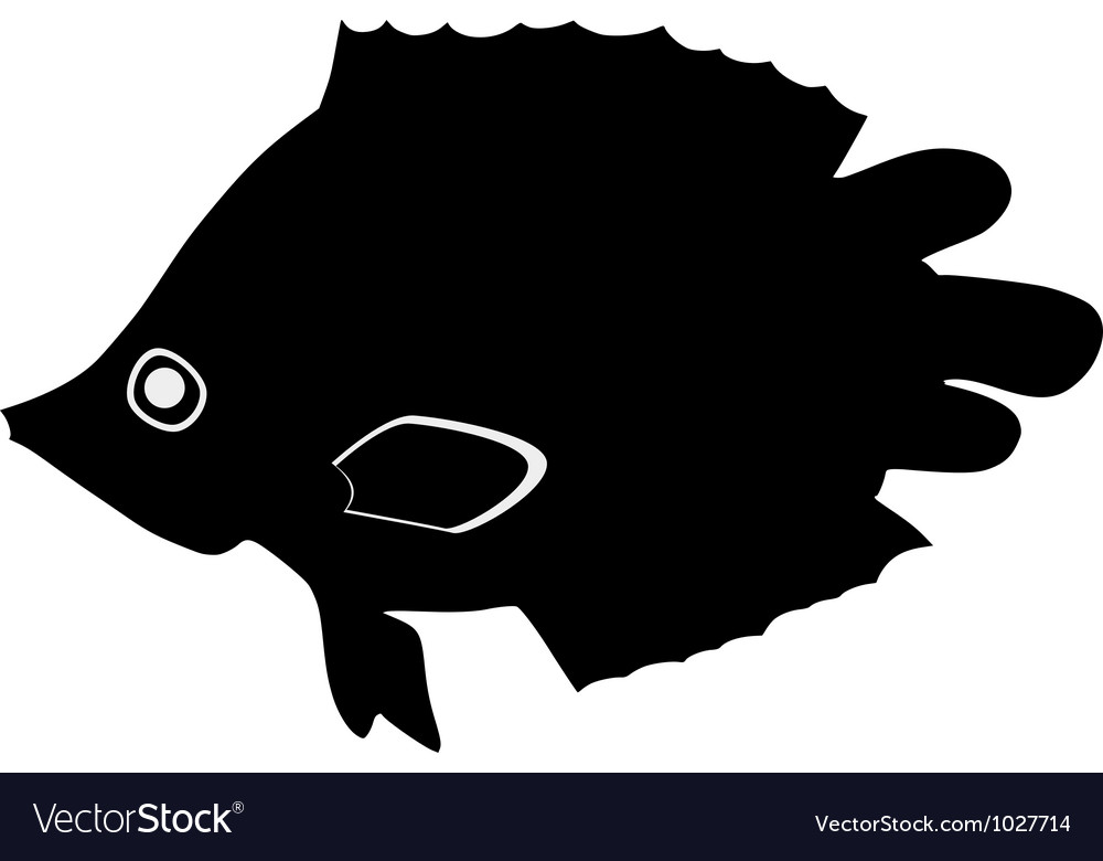 Silhouette of leaf fish vector | Price: 1 Credit (USD $1)