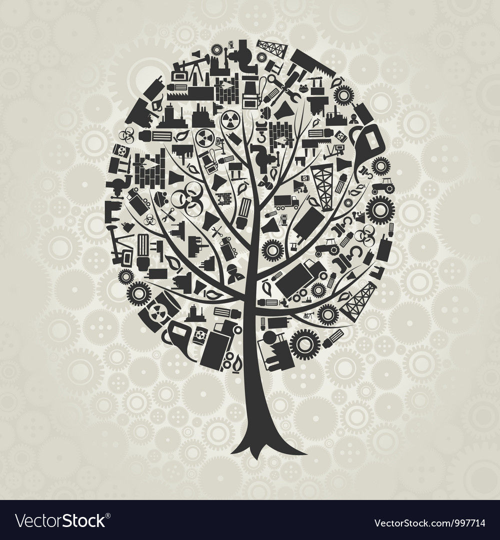 Tree of industry vector | Price: 1 Credit (USD $1)