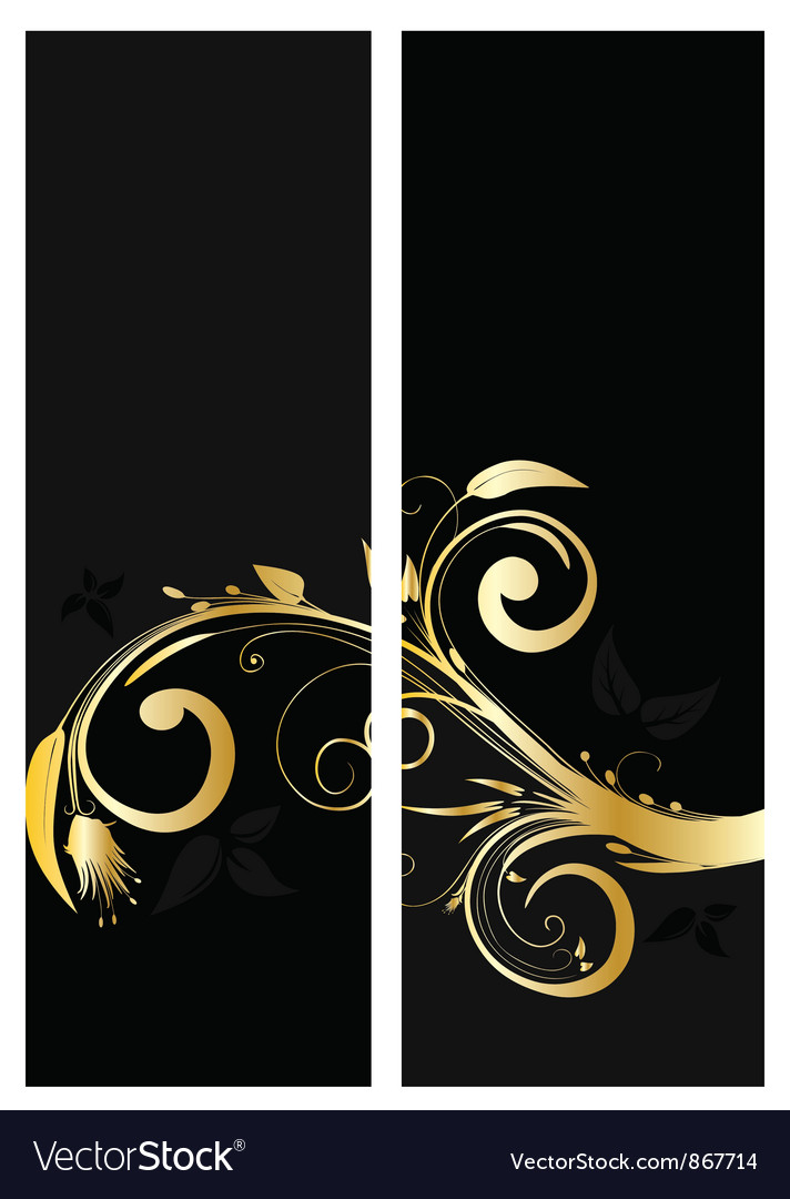 Vintage gold banner vector | Price: 1 Credit (USD $1)