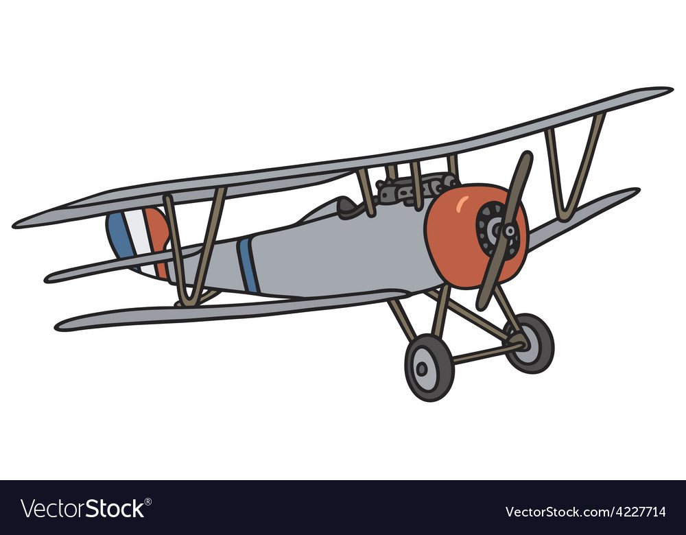 Wintage biplane vector | Price: 1 Credit (USD $1)