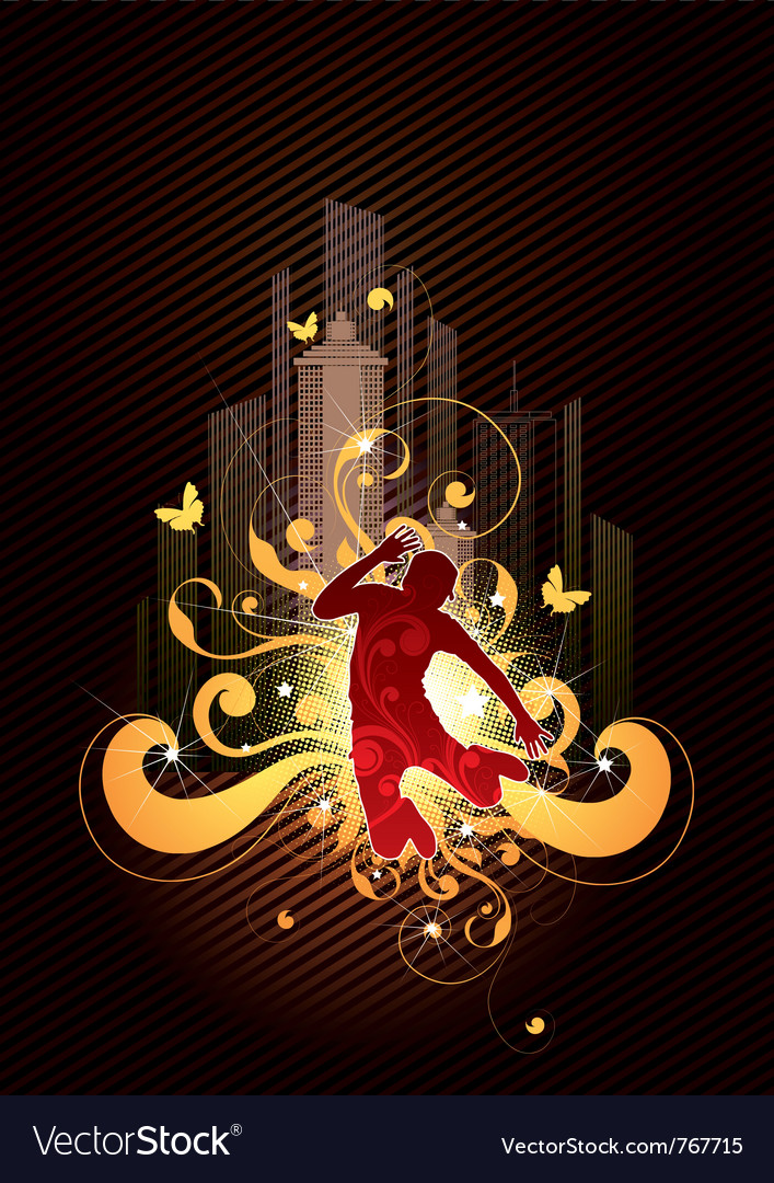 Absract dancer vector | Price: 1 Credit (USD $1)