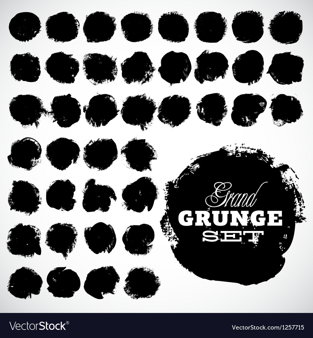 Abstract grunge ink draw shapes vector | Price: 1 Credit (USD $1)