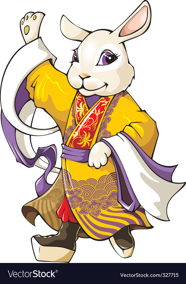 Chinese rabbit vector | Price: 3 Credit (USD $3)