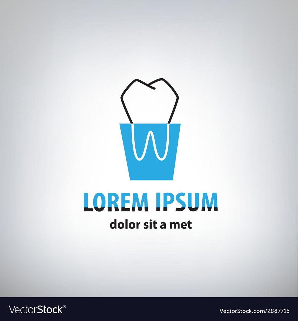 Dental medicine logo design template vector | Price: 1 Credit (USD $1)